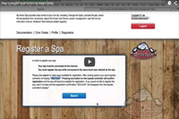 A video How to register your hot tub on myarcticspa